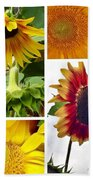 Sunflower Collage   Bath Towel