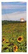 Sunflower Field New Jersey Bath Towel