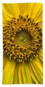 Sunflower In Oil Paint Bath Towel