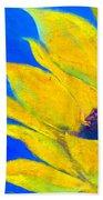 Sunflower In Blue Bath Towel