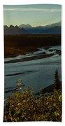 Sunrise On Mnt Denali, Trapper Creek Bath Towel