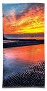 Sunset Lighthouse Bath Towel
