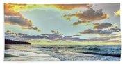 Sunset Over Lake Superior, Keweenaw Bath Towel