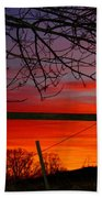 Sunset Tree Bath Towel