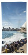 Sydney Harbour In Australia By Day Bath Towel