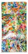 Tagore - Watercolor Portrait Bath Towel