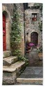 Tarquinia Red Door Impasto Bath Towel