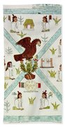 Tenochtitlan (mexico City) With Aztec Bath Towel