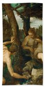 Adam And Eve After The Expulsion From Paradise Bath Towel