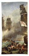 The Battle Of Trafalgar Bath Towel