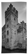 The Castle Of Sirmione. Lago Di Garda Bath Towel