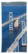 The Chesapeake Bay Bridge Bath Towel