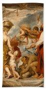 The Israelites Gathering Manna In The Desert Bath Towel