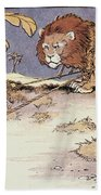 The Lion And The Mouse Bath Towel