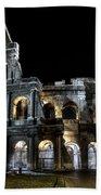 The Moon Above The Colosseum No2 Bath Towel