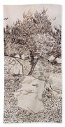 The Olive Trees Hand Towel