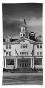 The Stanley Hotel Panorama Bw Bath Towel