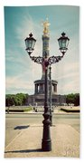 The Victory Column In Berlin Germany Hand Towel