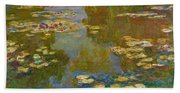The Water Lily Pond Bath Towel