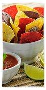 Tortilla Chips And Salsa Bath Towel