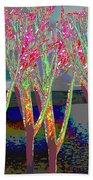 Trees Around Faal Season  Digitally Painted Photograph Taken Around Poconos  Welcome To The Pocono M Bath Towel