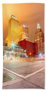 Tulsa City Skyline Around Downtown Streets Bath Towel