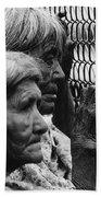 Two Elderly Apache Women Labor Day Rodeo White River Arizona 1969 Bath Towel