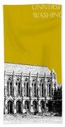 University Of Washington - Suzzallo Library - Gold Hand Towel