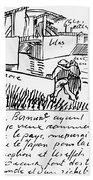 Van Gogh Letter, 1888 Hand Towel