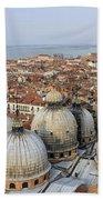 Terracotta Skyline Venice Italy Bath Towel