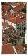 View Of Kotor Town In Montenegro Bath Towel