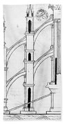 Villard De Honnecourt (c1225-1250) Bath Towel
