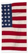 Vintage American Flag Bath Towel