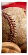Vintage Baseball Bath Towel