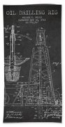 Vintage Oil Drilling Rig Patent From 1911 Hand Towel