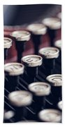 Vintage Typewriter Keys Bath Towel