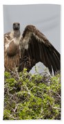 Vultures With Full Crops Bath Towel