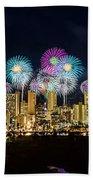 Waikiki Fireworks Celebration 11 Bath Towel