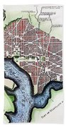 Washington, Dc, Plan, 1792 Bath Towel
