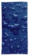 Water Drops On Metallic Surface Bath Towel
