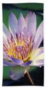 Blue Water Lily Bath Towel