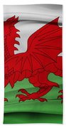 Welsh Flag Bath Towel