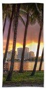 West Palm Beach Skyline Bath Towel