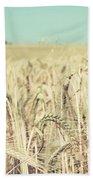 Wheat Crop Bath Towel