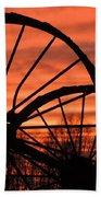 Wheel-n-axle Sunset.. Bath Towel