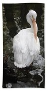 White Pelican Bath Towel