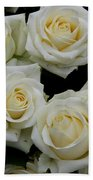 White Roses Bath Towel