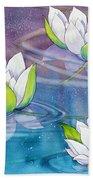 White Water Lilies Bath Towel