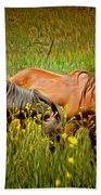 Wild Horses In California Series 2 Bath Towel