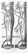 William Harvey: Blood, 1628 Bath Towel